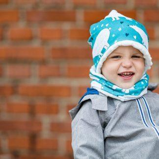 Komplet dla dzieci zimowy dla dzieci. Czapka i komin