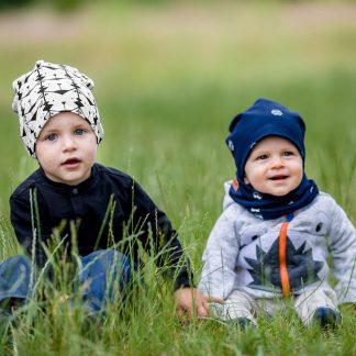 Komplety dla dzieci czapka i komin